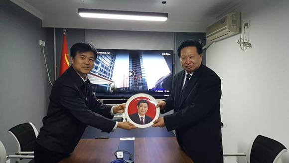 中国民营经济国际合作商会党委书记王燕国来访