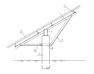 一种单立柱太阳能电池板支架