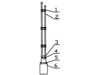 太阳能路灯专用的双灯杆结构