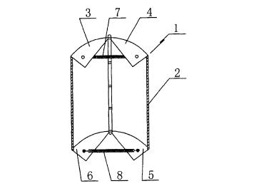 风力发电装置中使用的可以调节迎风 面积的风叶