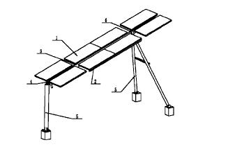 一种改进的用于光伏发电的太阳能 跟踪装置结构