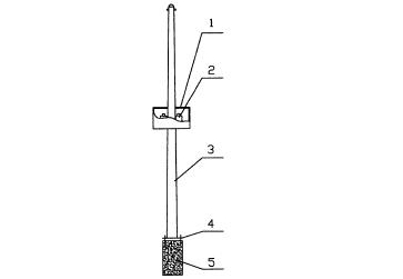 太阳能路灯专用的单灯杆结构